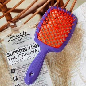 Расческа для волос Janeke Superbrush 1830 The Original Italian Фиолетовый/оранжевый - Best-Parfum