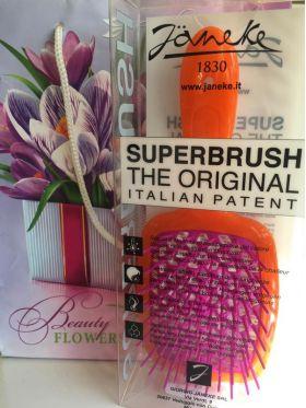 Расческа для волос Janeke Superbrush 1830 The Original Italian Оранжевый/фуксия - Best-Parfum