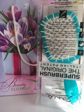 Расческа для волос Janeke Superbrush 1830 The Original Italian бирюзовый/белый - Best-Parfum