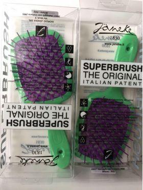 Расческа для волос Janeke Superbrush 1830 The Original Italian зеленая/фиолетовый - Best-Parfum