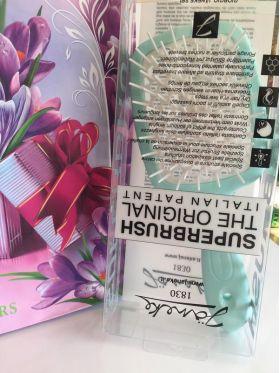 Расческа для волос Janeke Superbrush 1830 The Original Italian Тиффани/белый - Best-Parfum